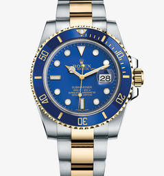 Replica Rolex Submariner Date Watch: Geel Rolesor - combinatie van 904L staal en 18 karaat geelgoud - M116613LB - 0001
