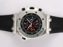 Fake Gorgeous Audemars Piguet Royal Oak Chronograph Automatic with Black AAA Watches [K6L9]