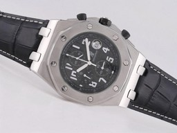 Fake Gorgeous Audemars Piguet Royal Oak Offshore Working Chronograph with Black Dial AAA Watches [A6F9]
