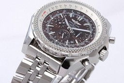 Fake Cool Breitling Bentley Small Date Automatic Movement Silver Case AAA Watches [E7S8]