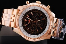 Fake Cool Breitling For Bentley Automatic Movement Rose Gold Case AAA Watches [K4W5]