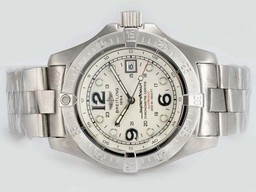 Fake Modern Breitling Super Ocean White Dial Hetzelfde Chassis Als 7750 Movement AAA Horloges [ A3P1 ]