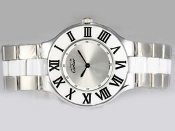 Fake Cool Cartier Pasha Must De with Silver Dial AAA Watches [F2E1]