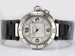 Fake Cool Cartier Pasha Seatimer with White Dial AAA Watches [M8I7]