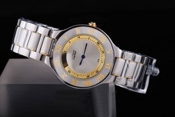 Fake Perfect Cartier Pasha Must De Two Tone with Silver Dial AAA Watches [C3W3]
