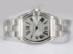 Fake Perfect Cartier Roadster with White Dial AAA Watches [C8H1]
