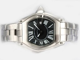 Fake Perfect Cartier Roadster with Black Dial-Ladys Model AAA Watches [P9R3]