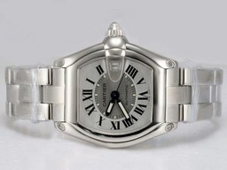 Fake Vintage Cartier Roadster with White Dial AAA Watches [R7I9]