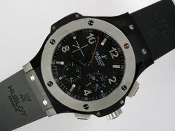 Fake Hublot Big Bang cronógrafo Modern Asia Valjoux 7750 Movimiento PVD Case AAA relojes [ R4O3 ]