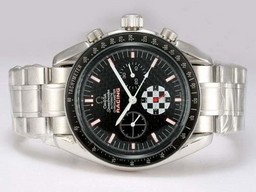 Fake Gorgeous Omega Speedmaster Racing cronógrafo automático con Dial Negro Relojes AAA [ U6A2 ]