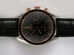 Fake Quintessential Omega Speedmaster Chronograph Lemania Beweging Two Tone Case AAA Horloges [ A2R5 ]