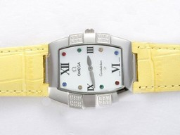 Fake Vintage Omega Constellation Diamond met White Dial Lady Size AAA Horloges [ T3D4 ]