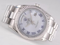 Fake Cool Rolex Day-Date Beweging met Light Blue Dial - Romeinse Markering AAA Horloges [ M2B5 ]