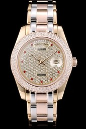 Fake populares Rolex Daydate AAA relojes [ A7G6 ]